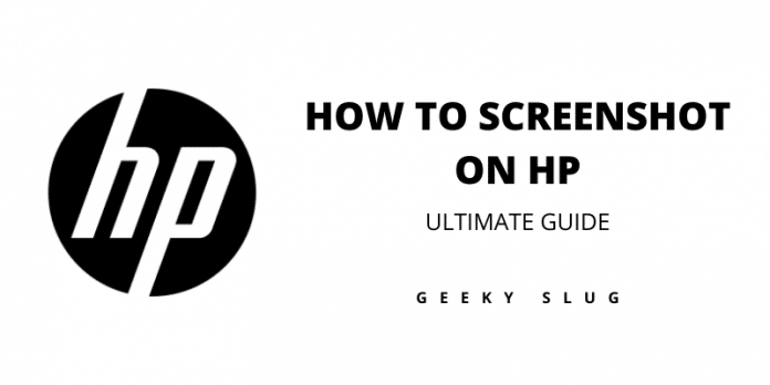 how to screenshot on hp
